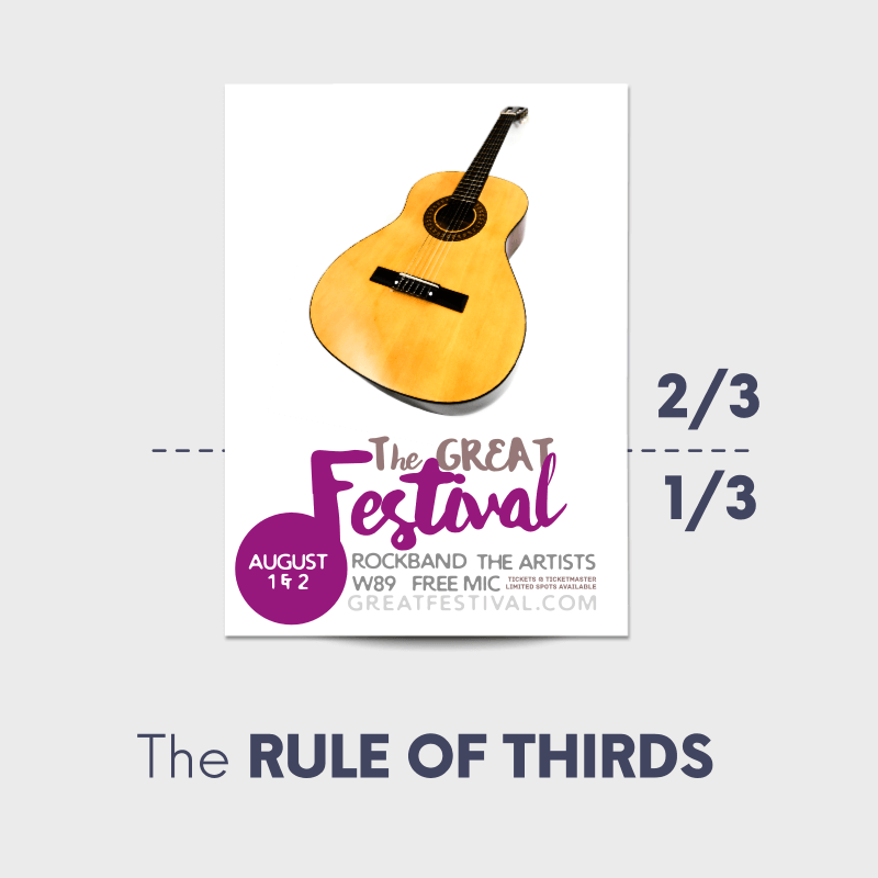Poster rule of thirds festival design